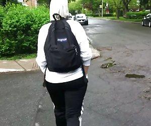 Yassmine árabe marroquí trasero booty de culo caminando