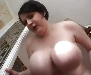 bbw peludo masturbarse & cum 1